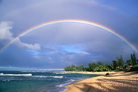 Es braucht beides, Regen und Sonnenschein für einen Regenbogen