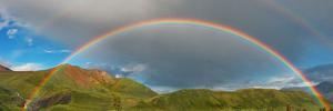 Die wunderschönen Farben des Regenbogens können nur durch das Prisma des Regens gesehen werden