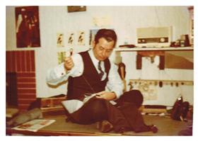 mein Vater bei der Arbeit