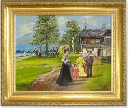 Pfingsausflug, Gemälde von Edith Goede